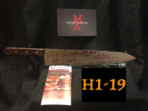 "H1_19 - 12"" Knife Autographed By 4 Michael Myers"