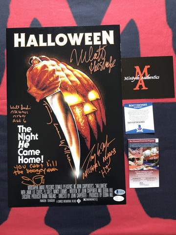 H1_07 - 11x17 Photo Autographed By John Carpenter, Nick Castle, Tommy Lee Wallace, Tony Moran & Will Sandin