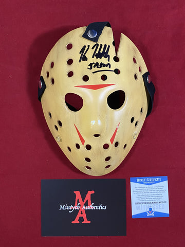 HODDER_400 - Jason Voorhees Part VIII Custom 13X Studios Mask Autographed By Kane Hodder