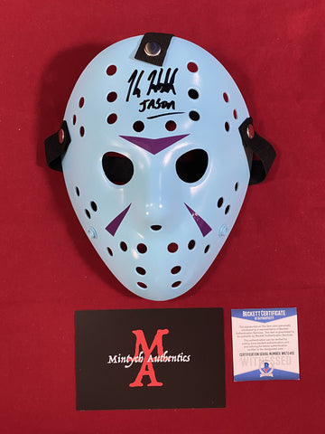 HODDER_405 - Jason Voorhees NES Custom 13X Studios Mask Autographed By Kane Hodder
