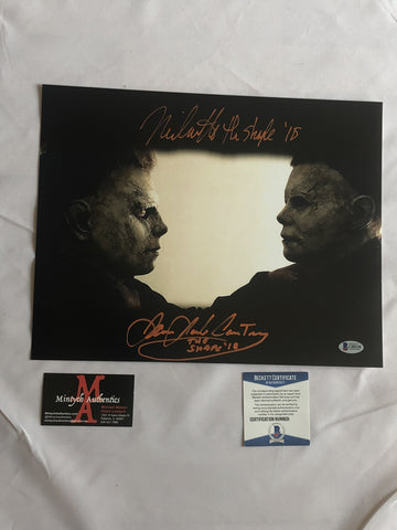 JCNC_10 - 11x14 Photo Autographed By Nick Castle & James Jude Courtney