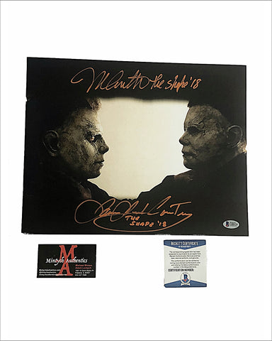 Halloween 2018 Michael Myers Dual Signed 11x14 Photo by Nick Castle & James Jude Courtney