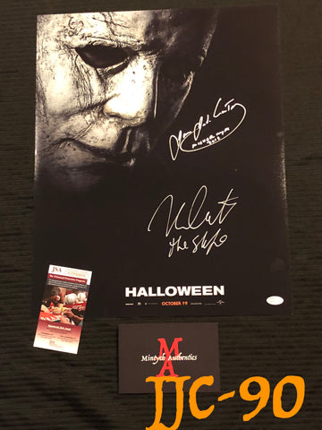 JCNC_12 - 16x20 Photo Autographed By Nick Castle & James Jude Courtney