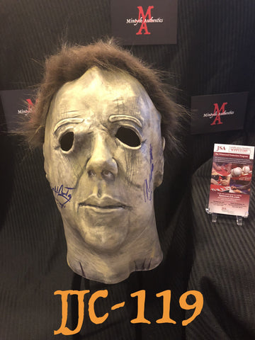 JCNC_15 - Michael Myers Mask Autographed By Nick Castle & James Jude Courtney