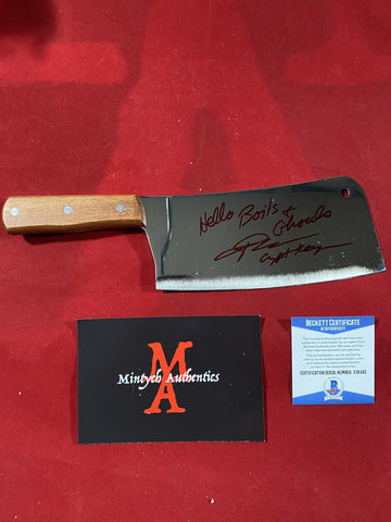 "JKASSIR_003 - Real 8"" Steel Cleaver Autographed By John Kassir"