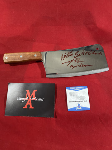 "JKASSIR_004 - Real 8"" Steel Cleaver Autographed By John Kassir"