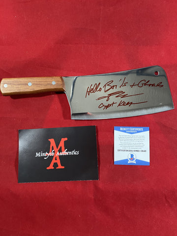 "JKASSIR_007 - Real 8"" Steel Cleaver Autographed By John Kassir"