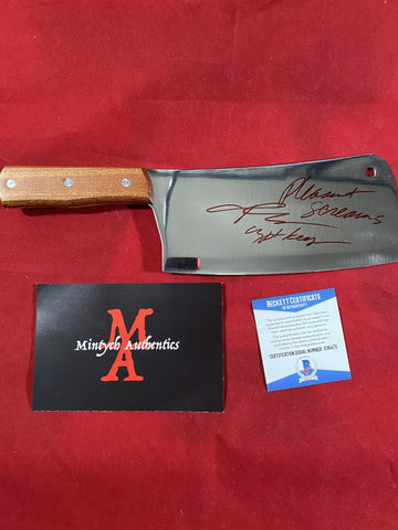 "JKASSIR_011 - Real 8"" Steel Cleaver Autographed By John Kassir"