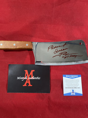 "JKASSIR_012 - Real 8"" Steel Cleaver Autographed By John Kassir"