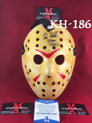 Kane Hodder Signed Jason Mask - Beckett Certified