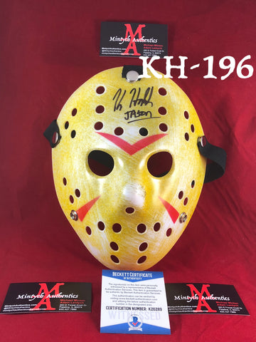 KH_196 - Jason Mask Autographed By Kane Hodder