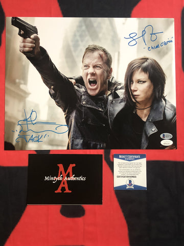 KS_24D - 11x14 Photo Autographed By Kiefer Sutherland & Mary Lynn Rajskub