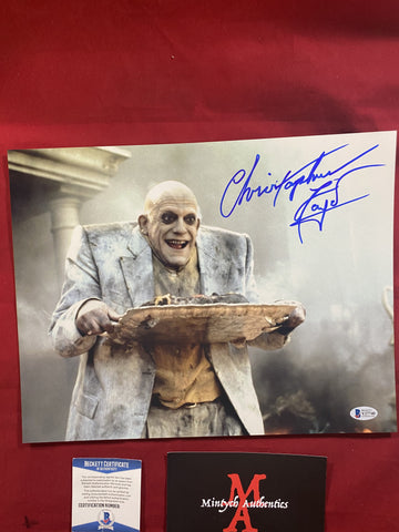 LLOYD_290 - 11x14 Metallic Photo Autographed By Christopher Lloyd
