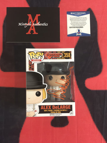 MALCOLM_018 - Alex DeLarge 358 Funko Pop! Autographed By Malcolm McDowell
