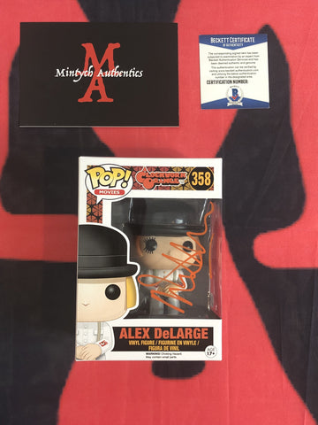 MALCOLM_019 - Alex DeLarge 358 Funko Pop! Autographed By Malcolm McDowell