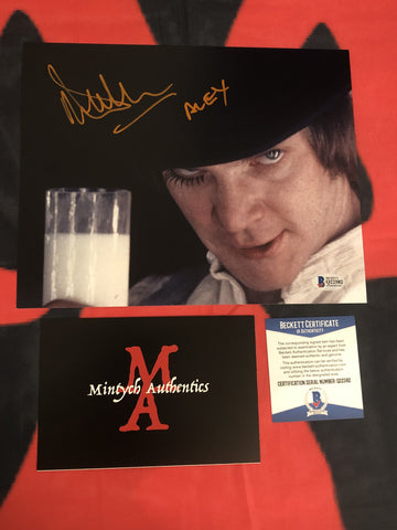MALCOLM_042 - 8x10 Photo Autographed By Malcolm McDowell