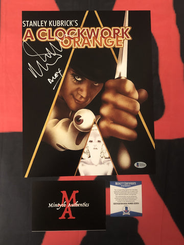 MALCOLM_087 - 11x14 Photo Autographed By Malcolm McDowell