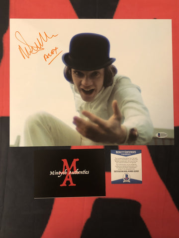 MALCOLM_090 - 11x14 Photo Autographed By Malcolm McDowell