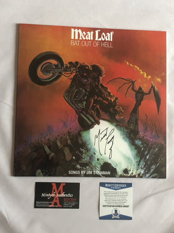 MEAT_31 - Bat Out Of Hell Vinyl Autographed By Meatloaf