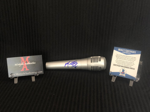 MEAT_38 - Silver Microphone Autographed By Meatloaf