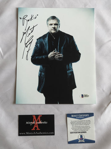 MEAT_74 - 8x10 Photo Autographed By Meatloaf
