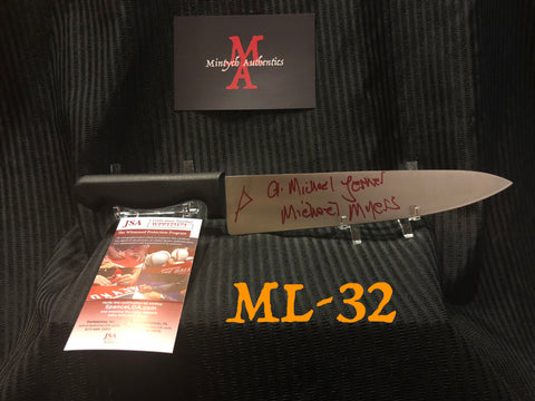 "ML_32 - 10"" Knife Autographed By Michael Lerner"
