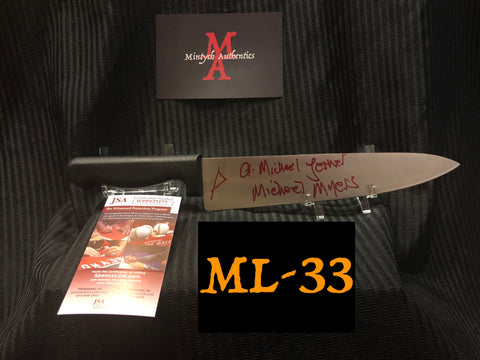 "ML_33 - 10"" Knife Autographed By Michael Lerner"