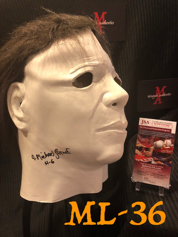 ML_36 - Michael Myers Mask Autographed By Michael Lerner