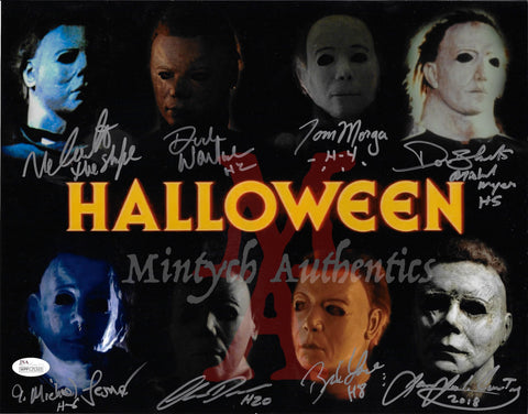 MM_16 - 11x14 Photo Autographed By Multiple Michael Myers