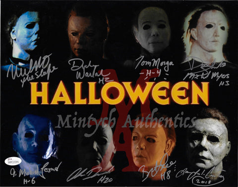 MM_17- 11x14 Photo Autographed By Multiple Michael Myers