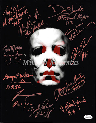 MM_22 - 11x14 Photo Autographed By Multiple Michael Myers