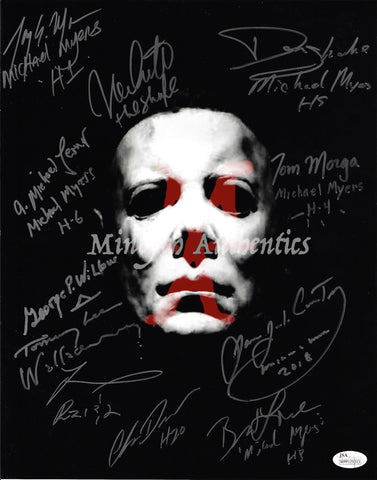 MM_24 - 11x14 Photo Autographed By Multiple Michael Myers