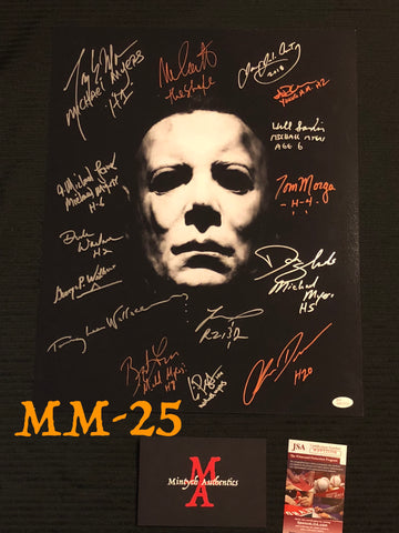 MM_25 - 16x20 Photo Autographed By Multiple Michael Myers