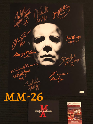 MM_26 - 16x20 Photo Autographed By Multiple Michael Myers