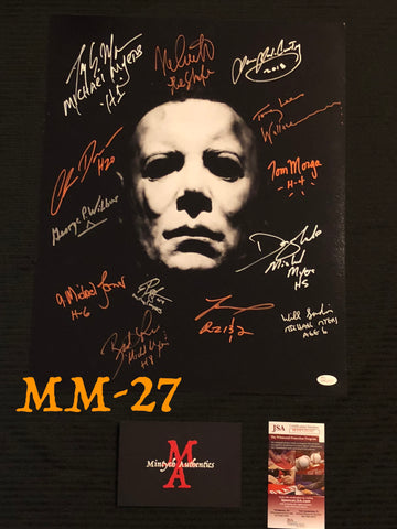 MM_27 - 16x20 Photo Autographed By Multiple Michael Myers