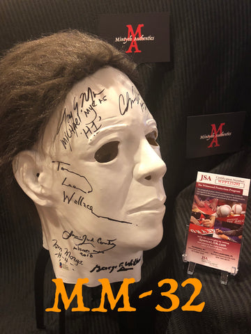 MM_32 - Michael Myers Mask Autographed By Multiple Michael Myers
