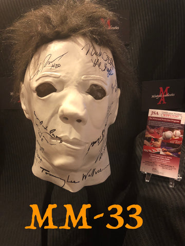 MM_33 - Michael Myers Mask Autographed By Multiple Michael Myers