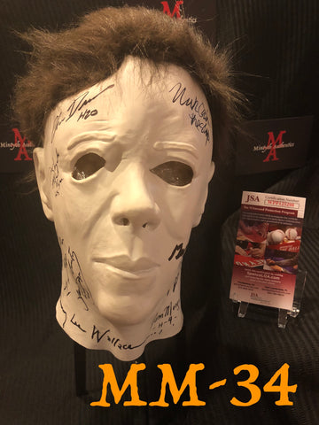 MM_34 - Michael Myers Mask Autographed By Multiple Michael Myers