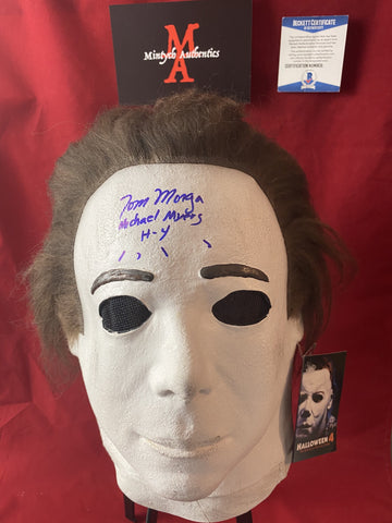MORGA_100 - Michael Myers Halloween 4 Trick Or Treat Studios  Mask Autographed By Tom Morga