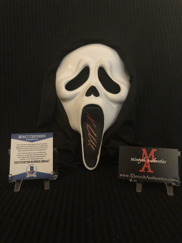 NEVE_28 - Ghostface Mask Autographed By Neve Campbell