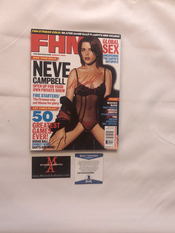 NEVE_37 - FHM Magazine Autographed By Neve Campbell