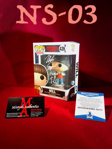 NS_03 - Will Funko Pop! Autographed By Noah Schnapp
