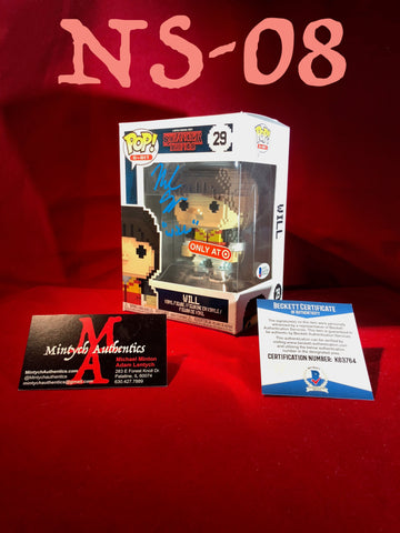 NS_08 - 8 Bit Will Funko Pop! Autographed By Noah Schnapp