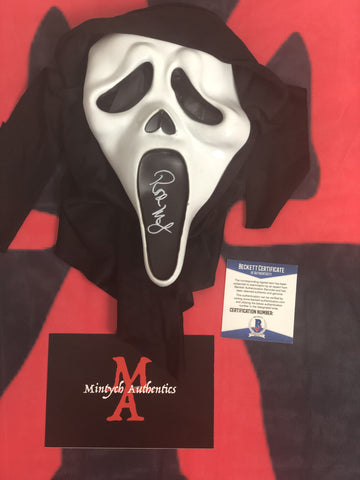 ROSE_017 - Ghostface Mask Autographed By Rose McGowan