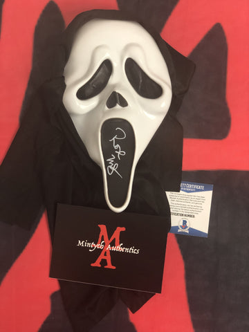 ROSE_018 - Ghostface Mask Autographed By Rose McGowan