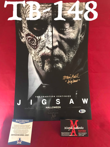 TB_148 11x17 Photo Autographed By Tobin Bell