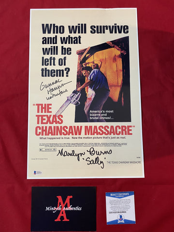 TCM_002 - 11x17 Photo Autographed By Gunnar Hansen & Marilyn Burns