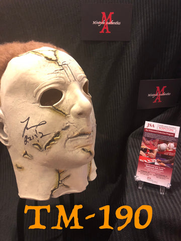 TM_190 - Michael Myers Mask Autographed By Tyler Mane