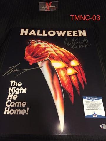 TMNC_03 - 16x20 Photo Autographed By Nick Castle & Tyler Mane