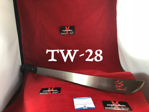 "TW_28 - 22"" Machete Autographed By Ted White"
